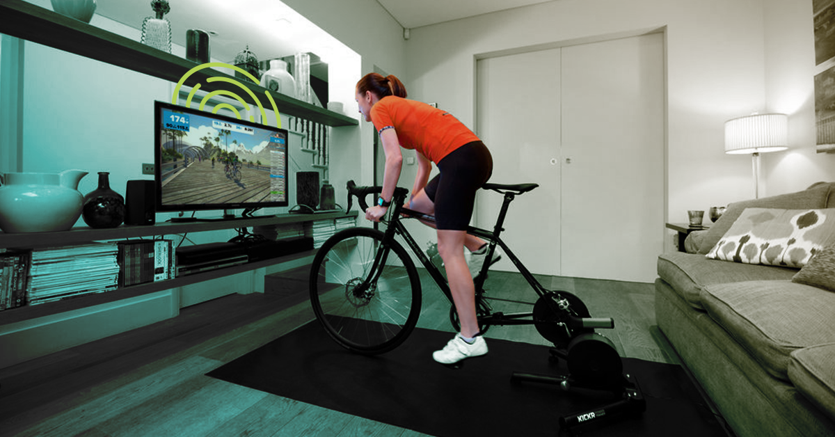 smart trainer cycling indoors
